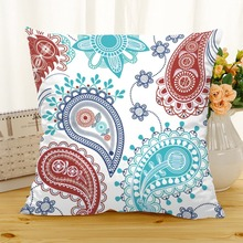 Frigg Blue Bohemian Cushion Cover Polyester White Geometric Boho Sofa Home Decorative Cushions Case Chair Seat