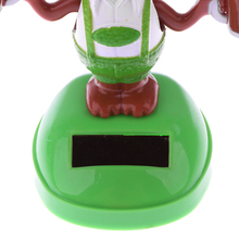 New Arrivals Solar Powered Dancing Flip Flap Toy Car Table Ornament Bobble Head Beer Dog Toy Kids Birthday Xmas Gift Collection