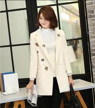 Wool Coat Bayan Kaban Manteau 2016 New Arrival Winter Women's Fashion Coat Wool Double-sided Embroidered Cashmere Coat Female