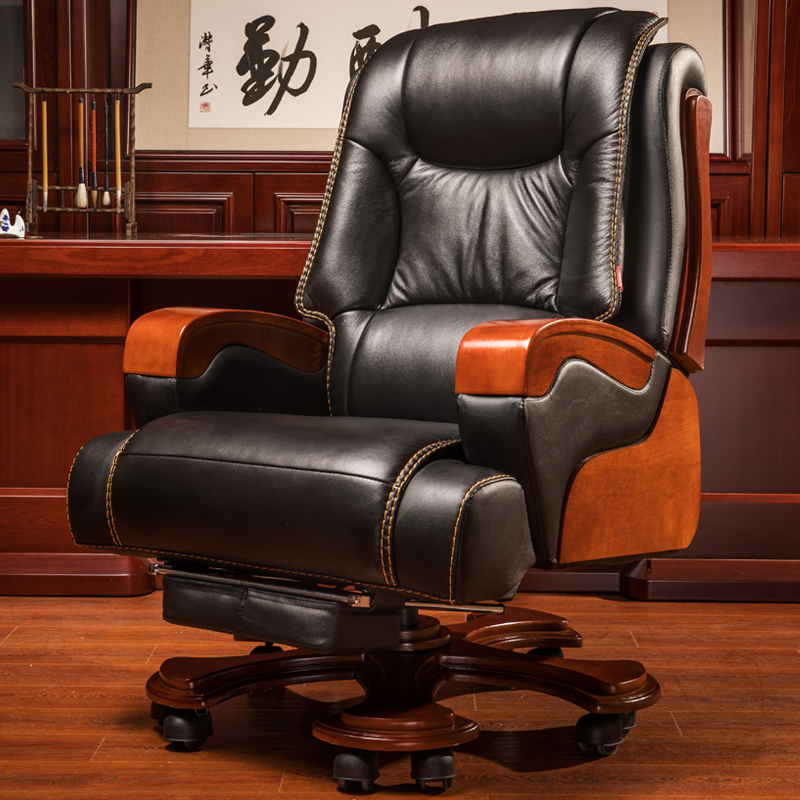 High Quality Home Office Furniture: High Quality Genuine Leather Boss Chairs Office Chairs
