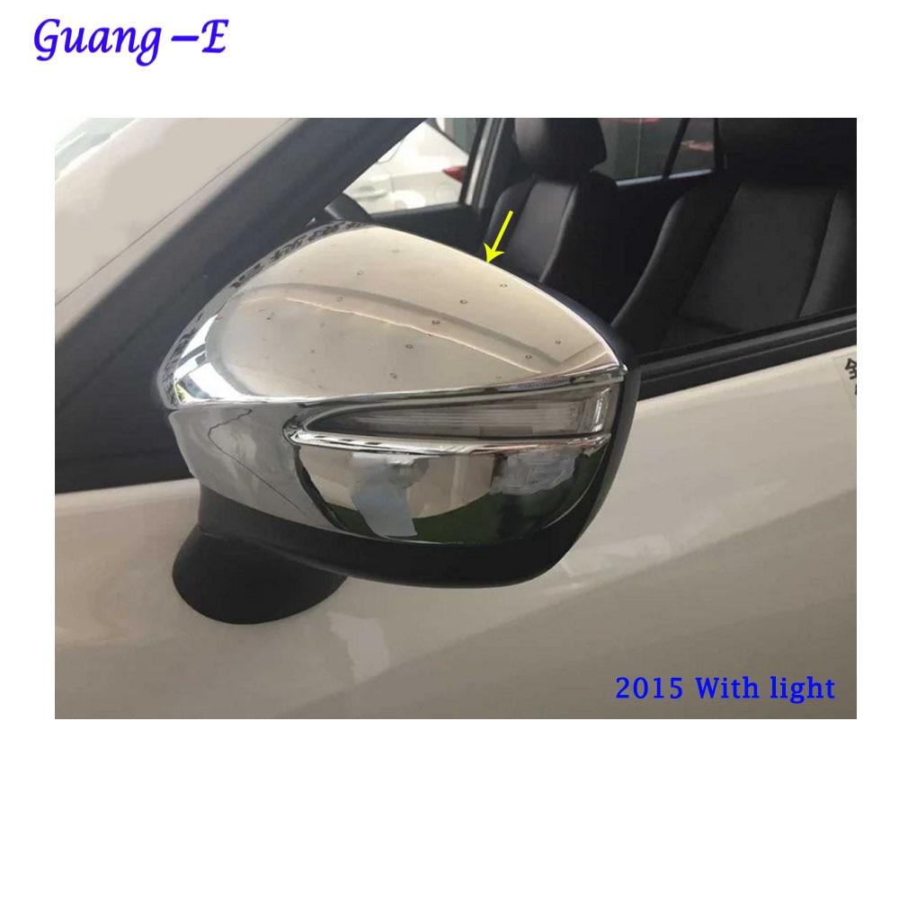 Bil ABS krom dekorationsstikker bagfra set bagfra Sideglas Spejl - Bilreservedele - Foto 2