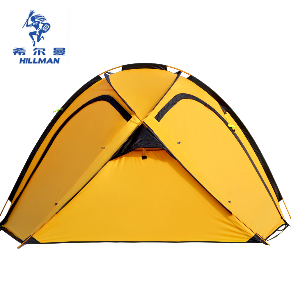 Hillman 4-5 Person super family outdoor tent camping tents double-layer aluminum rod big tents 4 season QINGYUN4 mobi garden outdoor camping tent 4 seasons double layer aluminum tent two rooms big camping tent super large 3 4 persons tent