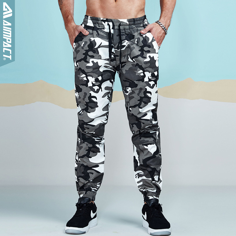 Aimpact Camo Pants For Men Cotton Chino Jogger Pants Man Fitted Trace Twill Sweatpants Male Camouflage Outdoor Trousers AM5014