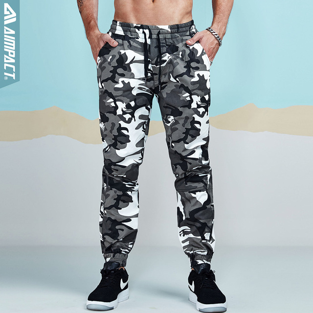 d1ce19b7541ca Aimpact Camo Pants for Men Cotton Chino Jogger Pants Man Fitted Trace Twill  Sweatpants Male Camouflage Outdoor Trousers AM5014