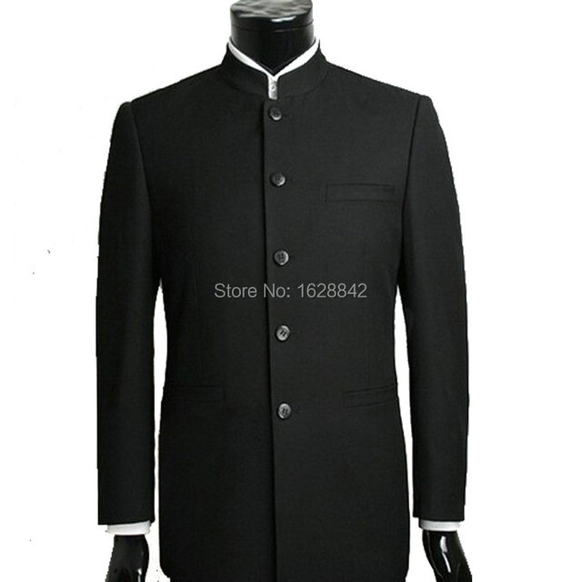 2016 Hot Men Suit Sets Chinese Tunic Suits Stand Collar Classic Suit Blazer Brand Design Business Formal Male Cotton Suit Sets