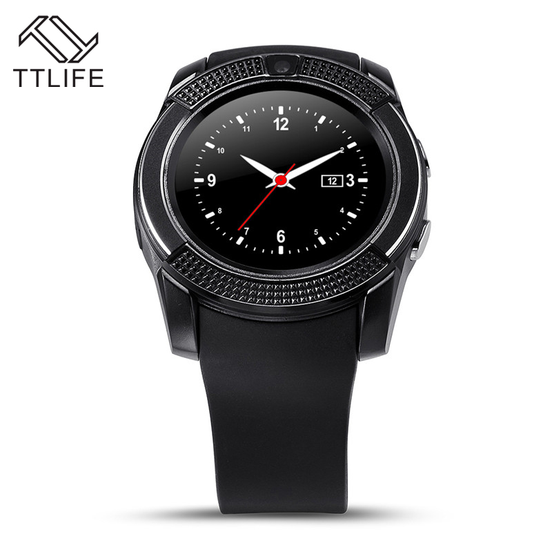 TTLIFE Brand V8 Support TF SIM Card Sport Wristwatch Full Screen Smart Watch For Android Match