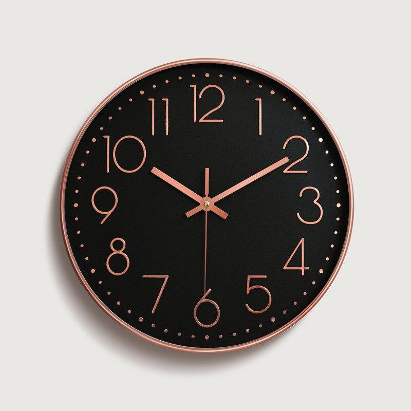 12 Inches Wall Clock Saat Reloj Clock Relogio De Parede Duvar Saati Horloge Murale Mute Digital Wall Clocks Living Room
