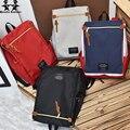 Вэньцзе брат холст двухместный сумка новая версия школа кампус сумка ветер сумка рюкзак коллега студент рюкзак