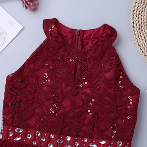 Image 4 - iEFiEL Kids Summer 2020 Sequined Embroidery Floral Lace Chiffon Flower Tulle Dress Princess Wedding Birthday Party Formal Dress