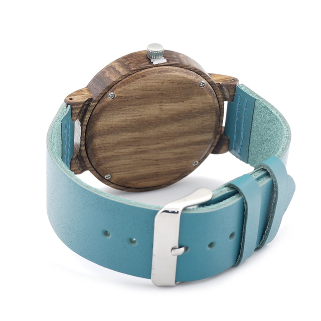 Zegarek unisex drewniany BOBOBIRD morski pudełko gratis
