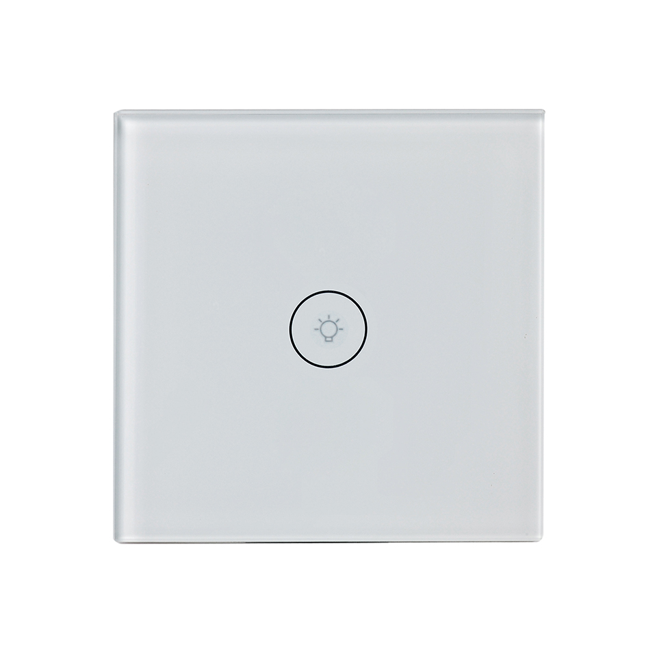 EU Smart Wall Light Switch,1 Gang 1 Way Wifi APP Remote Control Wall Touch Switch,Tempered Glass Touch Screen,AC 90-240V EU Smart Wall Light Switch,1 Gang 1 Way Wifi APP Remote Control Wall Touch Switch,Tempered Glass Touch Screen,AC 90-240V