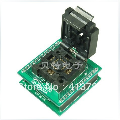 QFP32 adapter block burning ZY532A block transfer test, programming, ic qfp32 programming block sa636 block burning test socket adapter convert