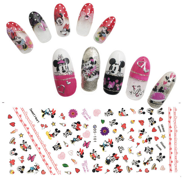 Online Shop tessie shop Mickey Mouse Nail 3D Nail Art Stickers Nail ...