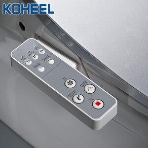 Image 4 - KOHEEL bathroom smart toilet seat cover electronic bidet clean dry seat heating wc gold intelligent led light toilet seat