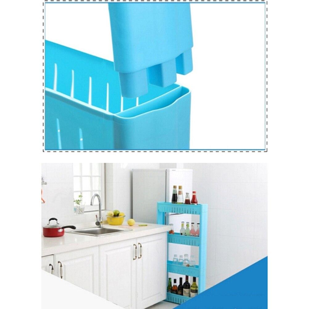 1 Pc White Gap Storage Shelf For Kitchen Storage Skating Movable ...