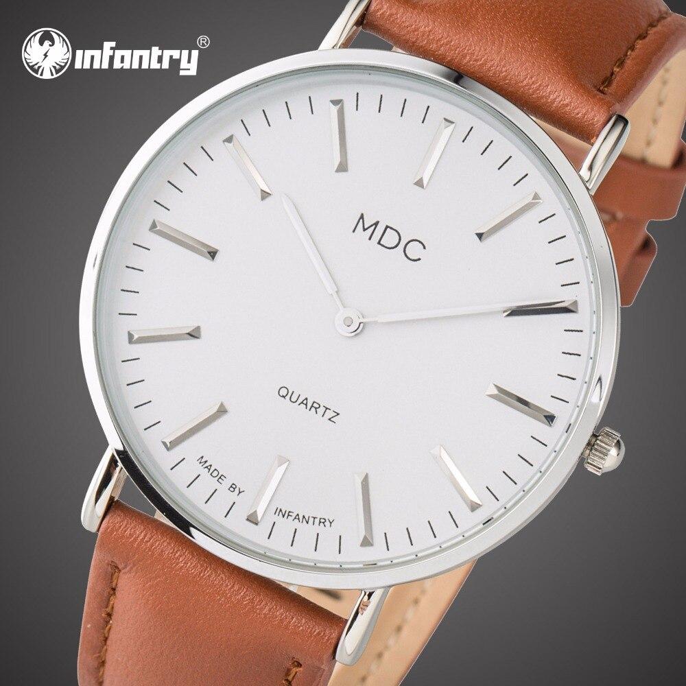 INFANTRY 럭셔리 브랜드 남자 시계 스테인레스 스틸 - 남성 시계