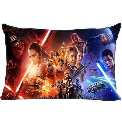 Terbaik Bantal Custom Case Star-Wars-(2) @ 1 Kamar Tidur Rumah Persegi Panjang Ritsleting Sarung Bantal (Satu Sisi) @ 181205-05-01-46