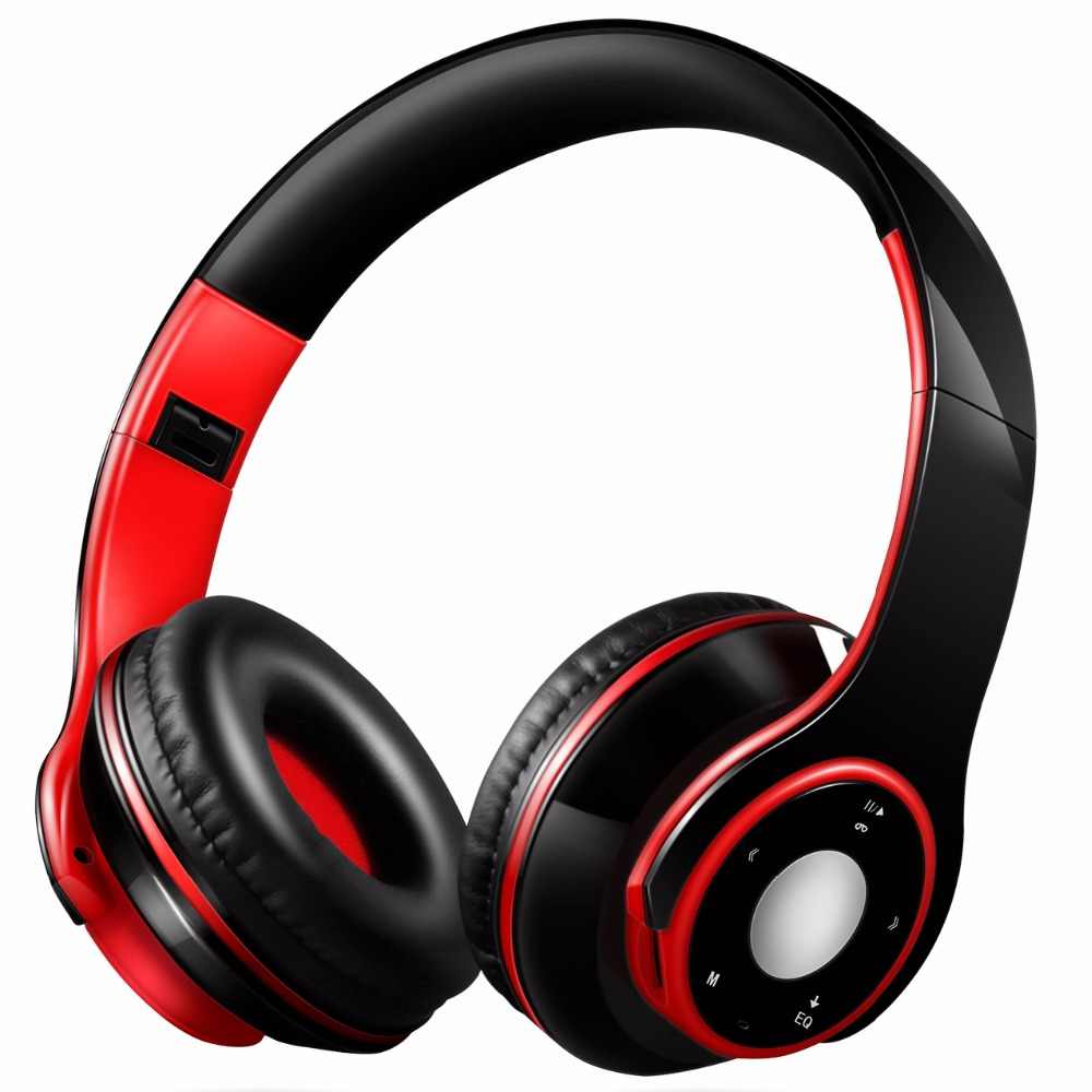 Có thể gập lại Đầy Màu Sắc Stereo Không Dây Bluetooth Over-Ear Headphones với Microphone và thẻ TF chơi cho Trẻ Em Trẻ Em Phụ Nữ Người Đàn Ông
