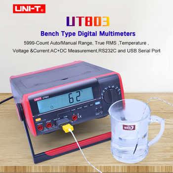 UNI-T UT801 UT802 UT803 Bechtop Digital Multimeter AC DC voltage current meter Resistance Capacitance Frequency  Diode tester - DISCOUNT ITEM  20% OFF All Category