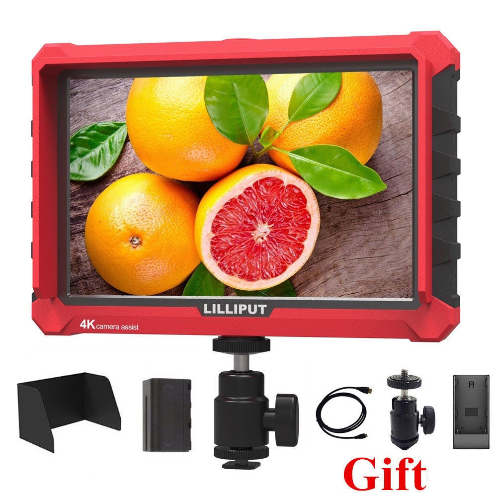 Lilliput A7S 7 Inch Utra Slim IPS Full HD 1920x1200 4K HDMI On-camera Video Field Monitor for Canon Nikon Sony DSLR Camera Video
