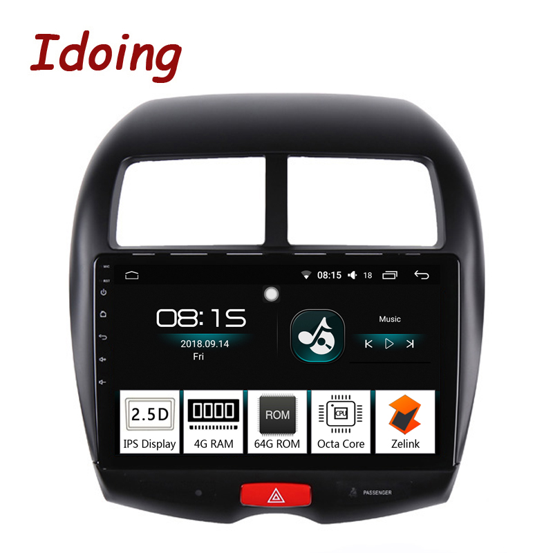 Idoing 10.24G+64G Octa Core Car Android 8.0 Radio Multimedia Player Fit Mitsubishi ASX 2010-2016 2.5D IPS GPS Navigation PX5