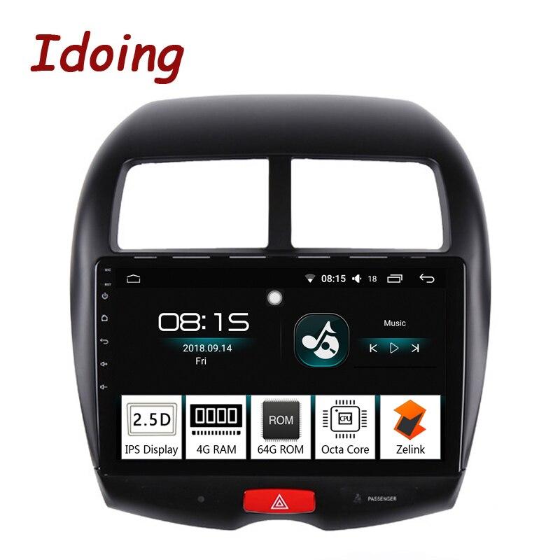 Je fais 10.2 4G + 64G Octa Core Voiture Android 8.0 Radio lecteur Multimédia Fit Mitsubishi ASX 2010- 2016 2.5D IPS navigation gps PX5