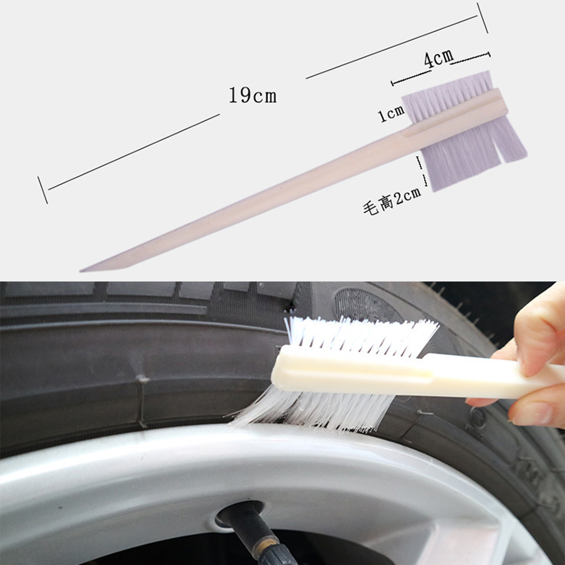 2018 New Sale Universal Degreasing Double-sided Groove Brush Car Brush Head Engine Cleaning Brush Keyboard Detail Cleaning