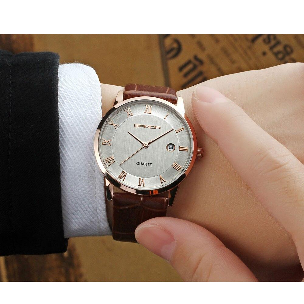 SANDA 2018 Fashion Business Quartz Watch Men Top Brand Luxury Famous Wrist Watch Male Clock For Men Hodinky Relogio Masculino стоимость