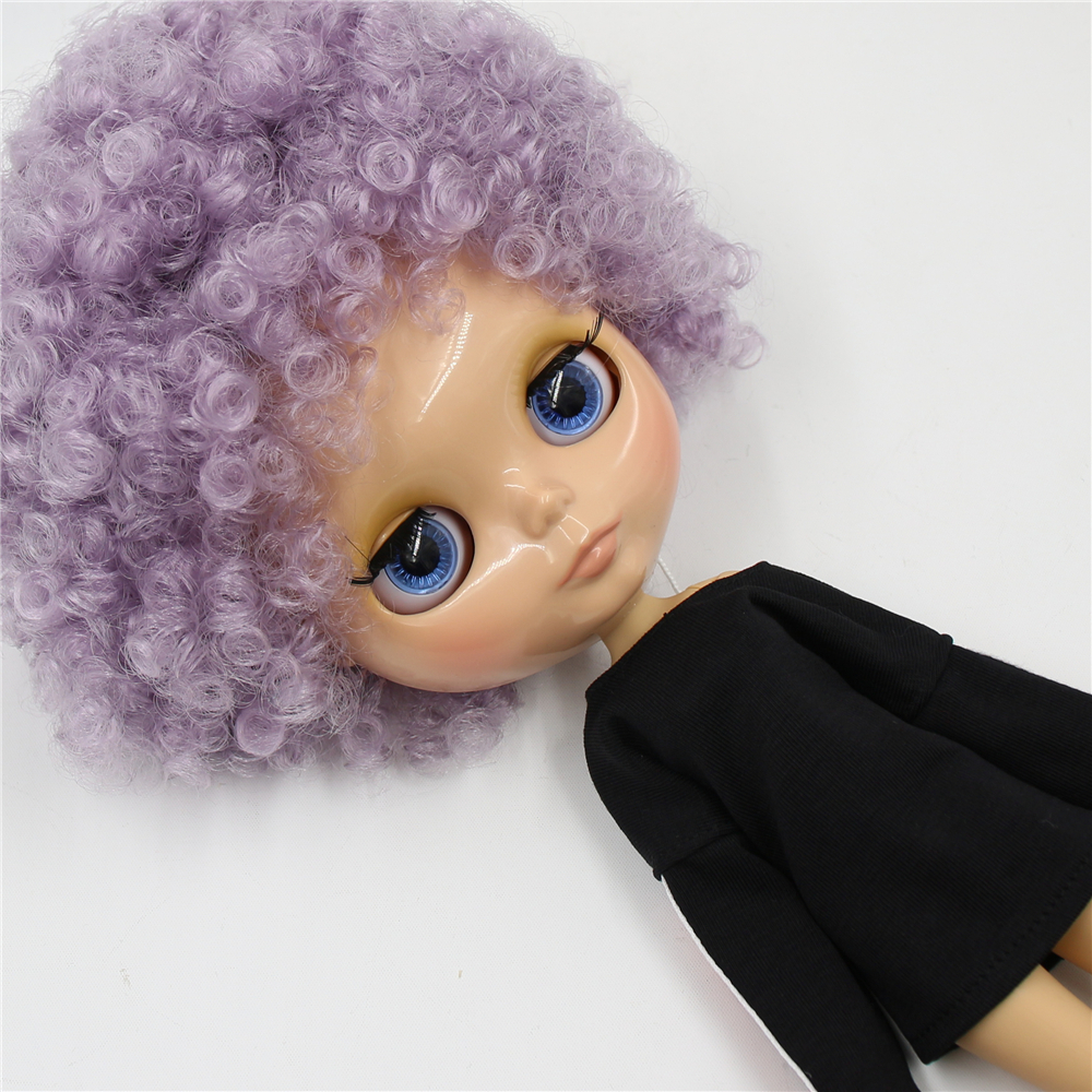 ICY Fortune Days factory blyth doll 1 6 bjd tan skin joint body Afor hair violet