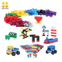 500 Pcs DIY Creative Brick Toys For Child Educational Building Block Sets Bulk Bricks Compatible With major brand blocks