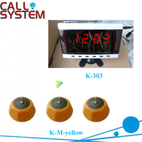 433.92mhz Wireless electronic calling system with 2 display monitor and 30 bell buzzer
