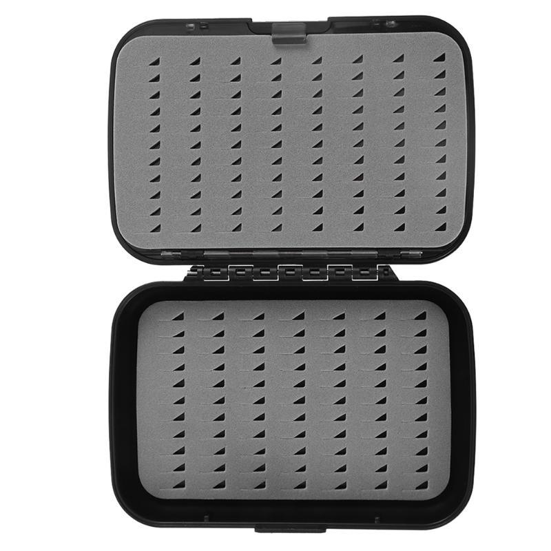 Waterproof 4-Layer Foam Fly Fishing Box Fishing Lure Box Fake Bait Fishing Tackle Box Case ABS Plastic Fly Fishing Box Case