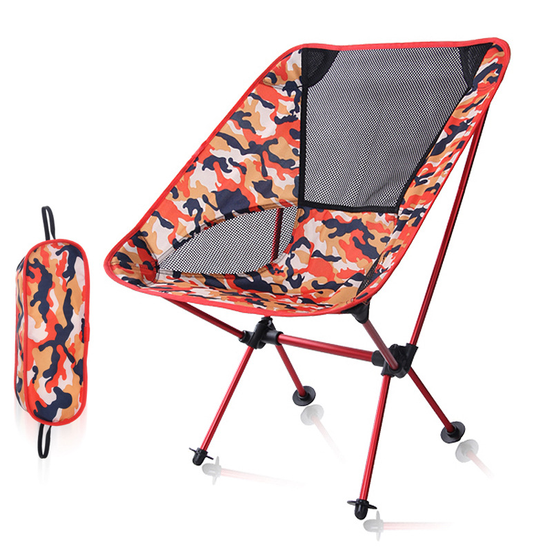 Outdoor camping Camo chairs picnic aluminum alloy folding moon chair garden, beach chair for fishing, travel and leisure outdoor aluminum alloy folding leisure stool portable mazar stools travel picnic chairs