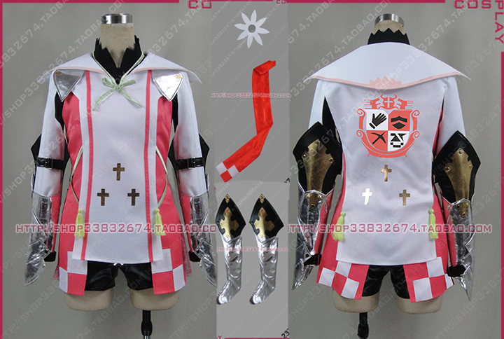Anime Tales of Zestiria Alisha Cosplay Costume with shoe covers Full Set Any Size