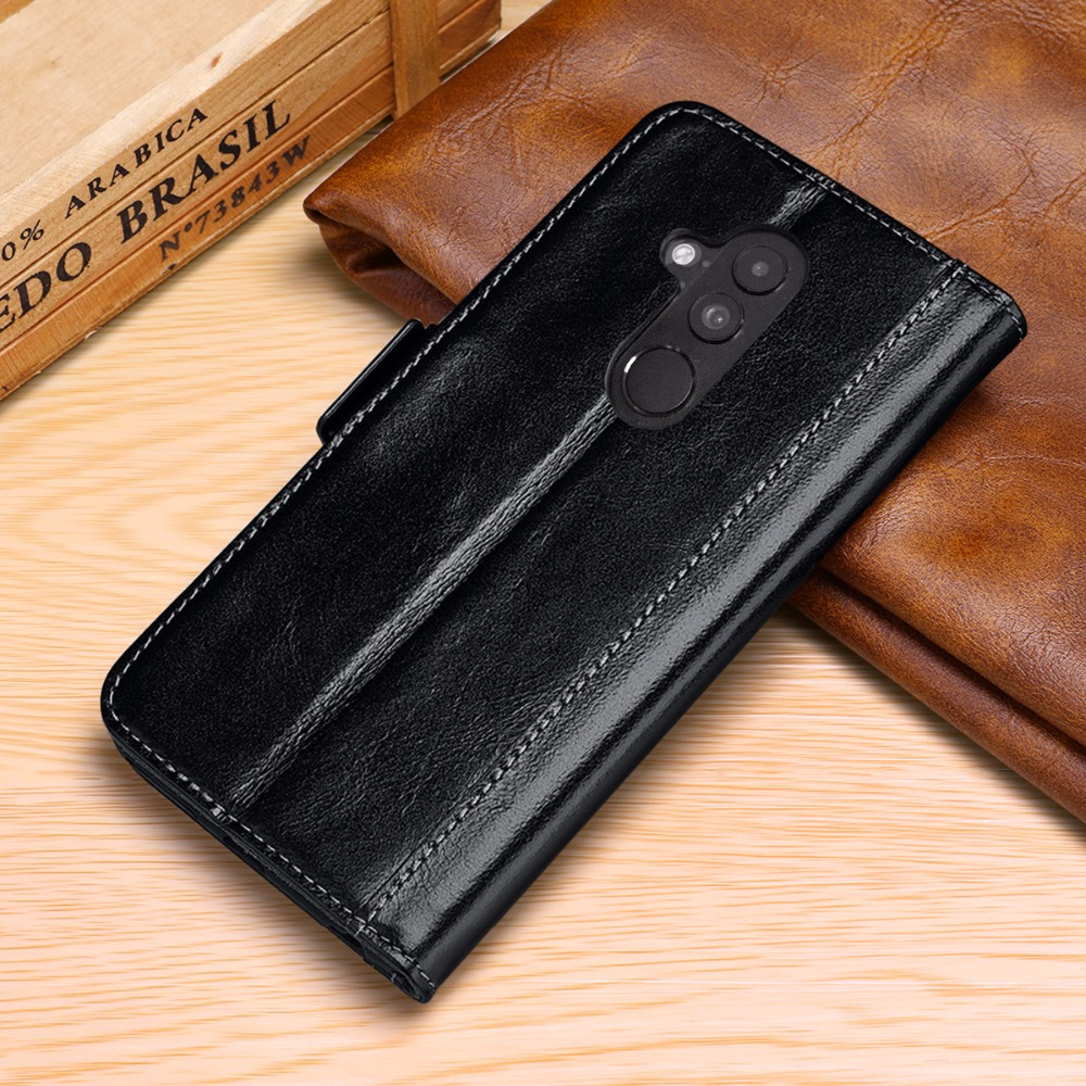 for Huawei Mate 20 Lite Magnet Case Genuine Real Cow Leather Case Wallet Cover for huawei maimang 7 Stand Function Flip Cover