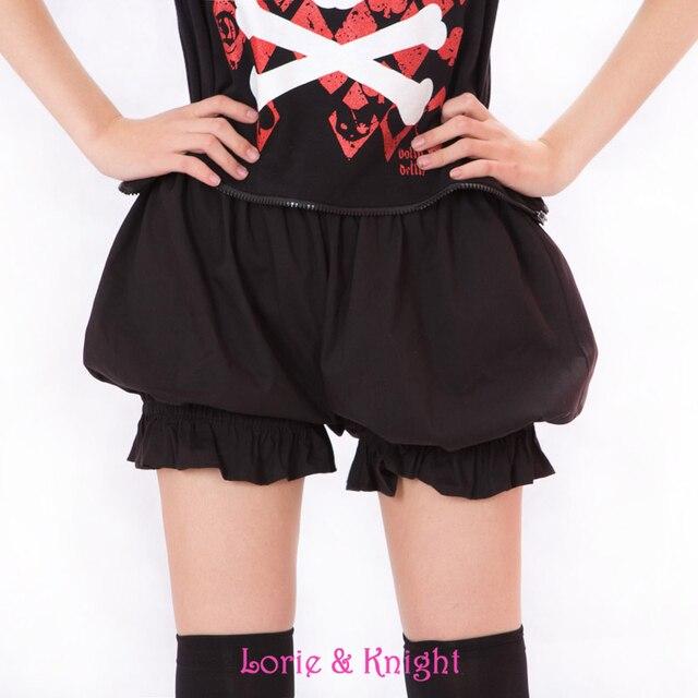 4d0c25b805 Girls Sweet Cute Black/White Cotton Safety Short Pants Lolita Bloomers  Summer Pumpkin Shorts