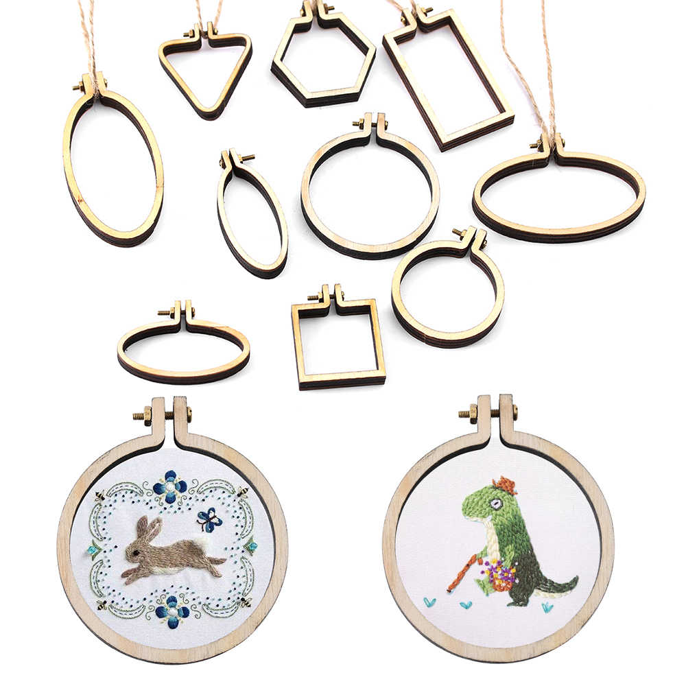 1Pc New Mini Embroidery Hoop Wooden DIY Crafts Embroidery Frame Small New Hand Stitching Hoop Cross Framing Hoop Gift Earring