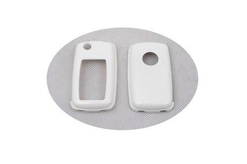 Жесткий Пластик БЕСКЛЮЧЕВОЙ дистанционный ключ защитный кожух(белый глянец) для Фольксваген MK4/MK5