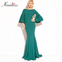 Kinikiss Sexy Women Boho Maxi Club Dress Trumpet Bandage Long Dress Party Multiway Bridesmaid Convertible Robe