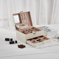 High Quality Large Space Leather Jewelry Boxes Jewelry Package Storage Drawer Jewelry Display Gift Box