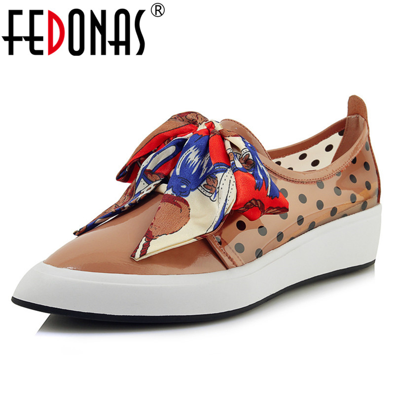 FEDONAS Fashion Genuine Leather Women Flats New Pointed Toe High Heels Patent Leather Lace Up Shoes Casual Basic Shoes WomanFEDONAS Fashion Genuine Leather Women Flats New Pointed Toe High Heels Patent Leather Lace Up Shoes Casual Basic Shoes Woman