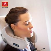 KIKI NEWGAIN Massage U Shaped Pillow Multi Function Shoulder and Cervical Vertebra Electric Outdoor Portable Car Health Care