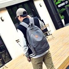 Neue modische design leinwand männer frauen vintage reisetasche student schulbuchtasche männlichen laptop rucksack
