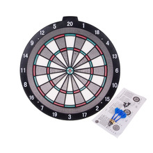 WIN.MAX 18 Inch Safety Plastic Dartboard with 6 softip darts and Extra Dart Accessories 6 pcs Soft tips