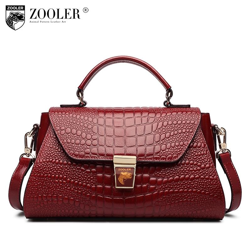 New genuine leather bags handbags women famous brands 2018 European American style ladies bag Pattern shoulder bag ZOOLER C-139