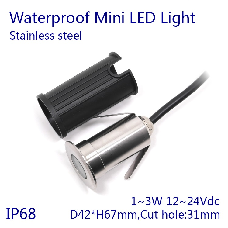 D42xH67mm 5pcs/lot  Dimmable 3W Stainless Steel RGB LED Underwater Light Color Changing Swimming Pool Light Pond Lamp