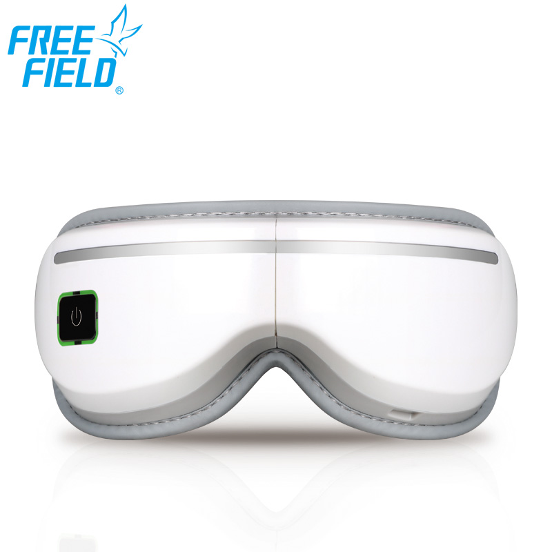 FreeField air pressure heating eye massager device cordless portable facial Massage music playing face spa stress relief machine portable lcd digital manometer pressure gauge ht 1895 psi air pressure meter protective bag manometro pressure meter
