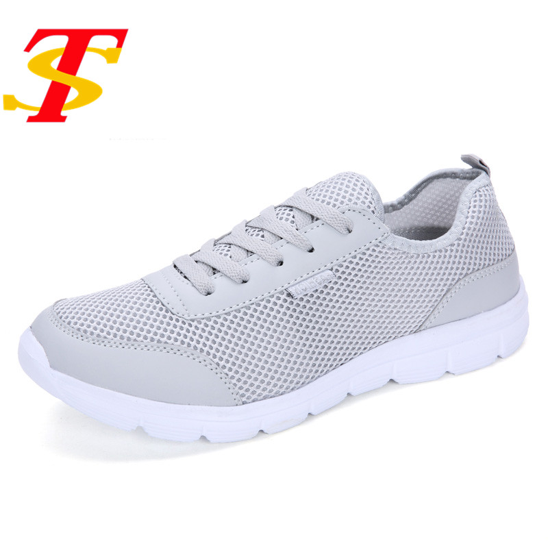 TS 2017 New Fashion Men casual Shoes Mesh Lace-Up Flats Breathable Light Zapatillas Lovers Casual Shoes Size EUR:35-47 3Color