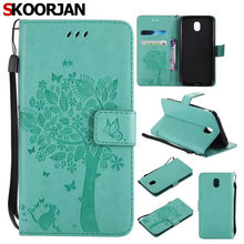 Здесь можно купить  For Samsung Galaxy J5 2017 J530 Euro. Ver. Case Embossed Cat and Tree Pattern Flip Capa Wallet Phone Case for Cover Stand Holder