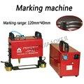 220 V 600 W máquina de marcado neumático portátil KT-QD05 120*40 MM para automoción de la motocicleta del motor vehículo marco número